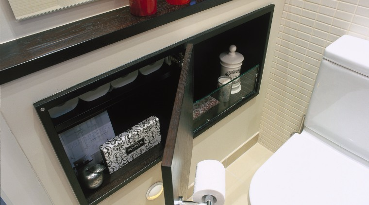 view of the toilet side cabinet with ample bathroom, furniture, plumbing fixture, product design, sink, gray