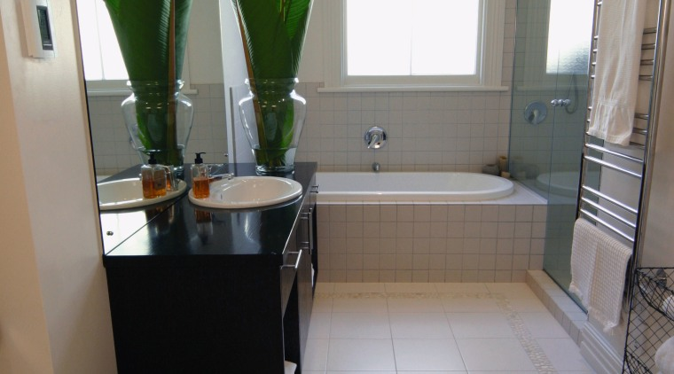 Examples of different heating options for bathrooms from bathroom, daylighting, floor, flooring, home, house, interior design, kitchen, property, real estate, room, sink, tile, window, gray