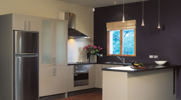 An example of an afoordable new kitchen from cabinetry, countertop, floor, home appliance, interior design, kitchen, room, gray, black