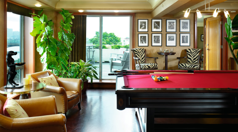 view of the mahogany  flooring in the billiard room, ceiling, home, interior design, living room, lobby, real estate, recreation room, room, window