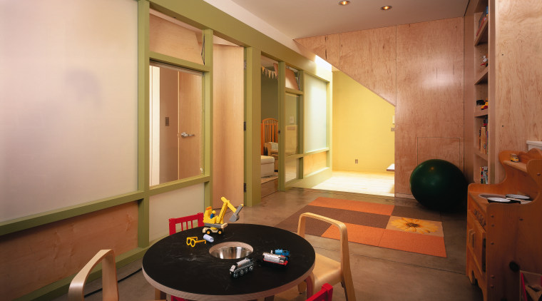 The New childrens play area features a soft apartment, ceiling, interior design, real estate, room, table, orange, brown