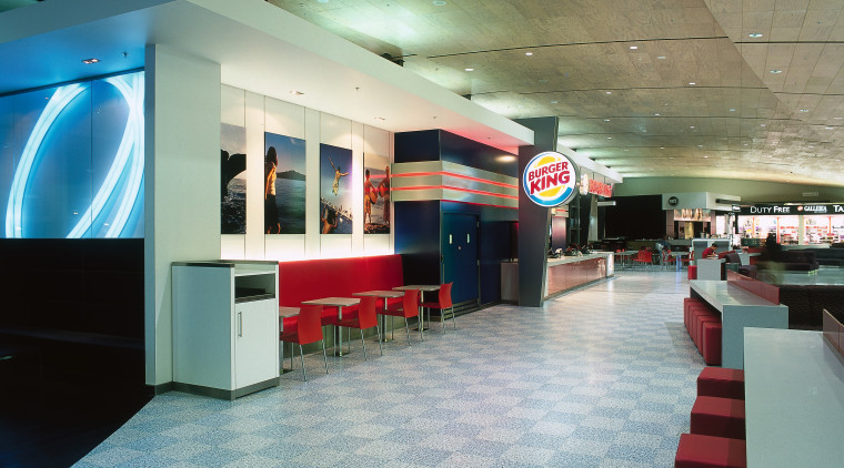 View of Burger King premises in food court architecture, ceiling, floor, flooring, interior design, leisure centre, lobby, gray