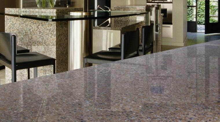 view of this kitchen featuring samsung staron pantagnoia floor, flooring, hardwood, interior design, laminate flooring, lobby, tile, wood flooring, gray