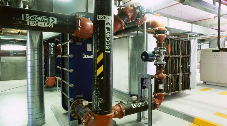 view of the plant  room that ae industry, white