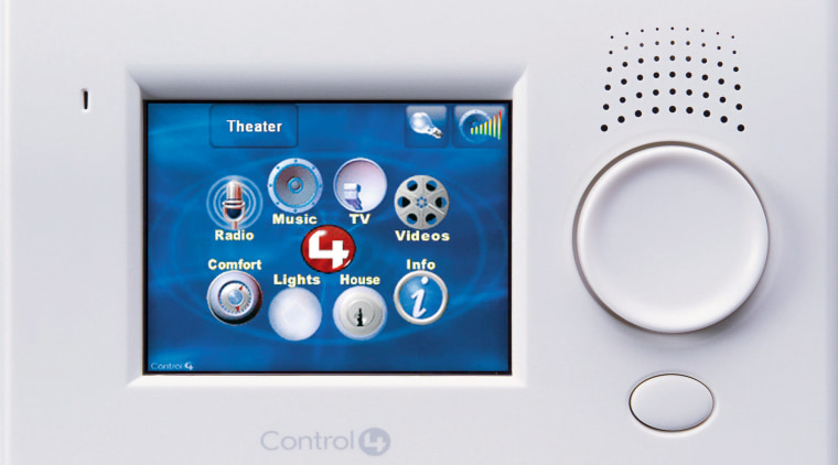 Control panel of home automation system. electronic device, electronics, multimedia, product, product design, technology, white