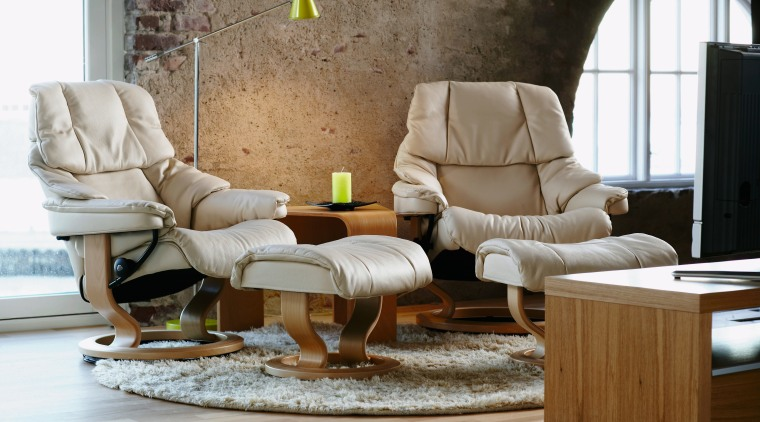 A view of ssome furniture from Scansin International. chair, couch, furniture, interior design, living room, loveseat, product design, recliner, sofa bed, table, brown, gray