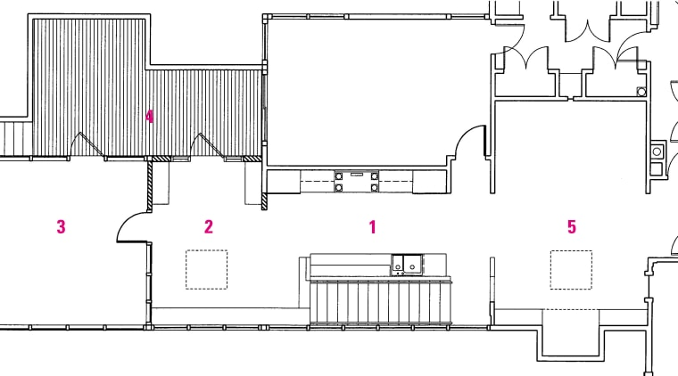 A legend/floorplan of the house angle, architecture, area, design, diagram, drawing, floor plan, line, product, product design, technical drawing, white