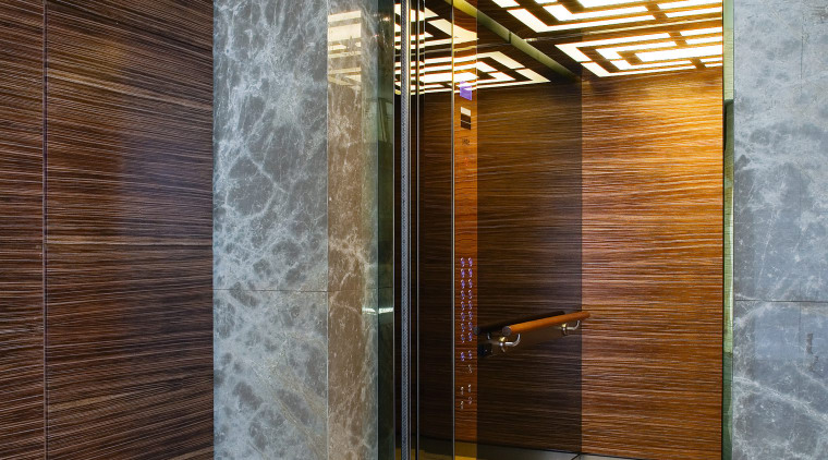 A view of the Lifts installed in the architecture, bathroom, floor, flooring, interior design, tile, gray, brown