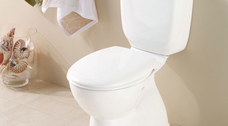 A view of a toilet from Caroma Industries. bathroom sink, ceramic, plumbing fixture, product, product design, toilet, toilet seat, gray