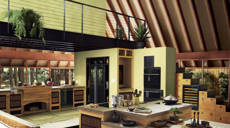 A view of some kitchen appliances from Standards interior design, brown