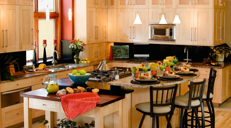A view of these kitchens designed by Advance countertop, cuisine classique, interior design, kitchen, room, orange