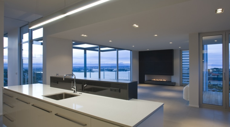 The kitchen, witch won allfrey the Applico Kitchen architecture, countertop, daylighting, interior design, kitchen, real estate, window, gray