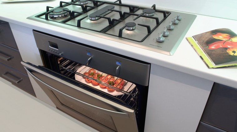 A view of some kitchen appliance from Fisher gas stove, home appliance, kitchen appliance, kitchen stove, major appliance, gray