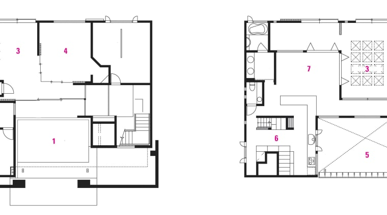 1 entrance court. 2master bedroom. 3 doma. 4 architecture, area, design, diagram, drawing, floor plan, line, plan, product design, square, structure, white