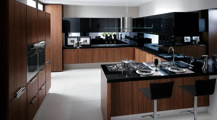 View of kitchen by Scavolini. cabinetry, countertop, cuisine classique, interior design, kitchen, room, gray, black