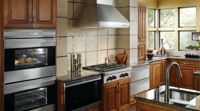 View of applainces at the Westye Living Kitchen cabinetry, countertop, cuisine classique, home appliance, kitchen, kitchen appliance, kitchen stove, major appliance, oven, room, brown, gray