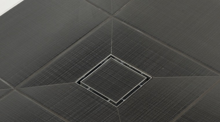 Image of tiling done by Lifestyle Designer Tiles. angle, black, black and white, floor, flooring, line, product design, tile, black