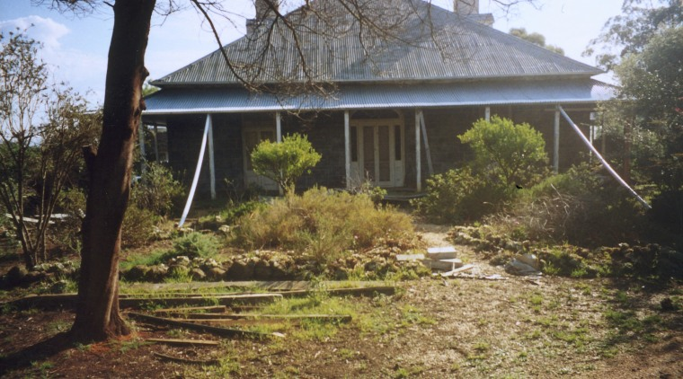 Before renovation, the homestead was badly neglected, but cottage, estate, farmhouse, home, house, land lot, property, real estate, tree, brown