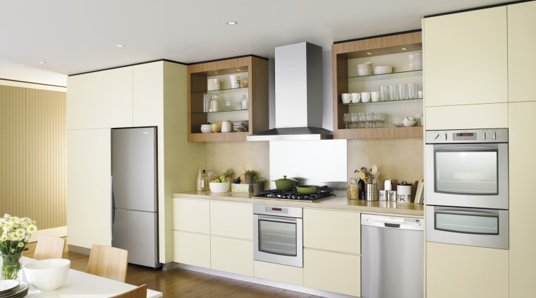 Westinghouse has released a new range of high-tech cabinetry, countertop, cuisine classique, home appliance, interior design, kitchen, real estate, white