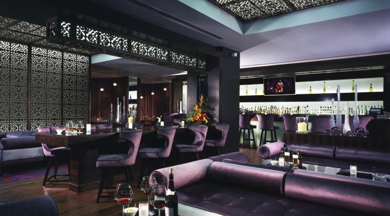 Destinations within a destination - two key amenities bar, interior design, restaurant, black