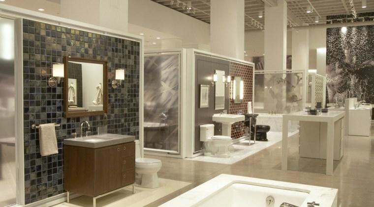 Kohler, a global leader in bathroom design and bathroom, ceiling, floor, flooring, interior design, brown, orange
