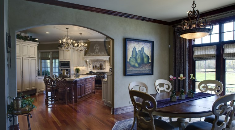 View of the formal dining area with the ceiling, dining room, estate, home, interior design, living room, real estate, room, gray, black