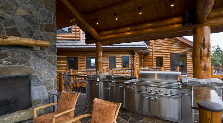 Image of the exterior of this home which interior design, log cabin, real estate, black