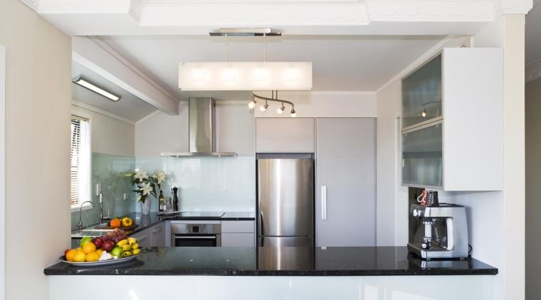 View of a kitchen designed by Denele Design ceiling, countertop, cuisine classique, home appliance, interior design, kitchen, real estate, white