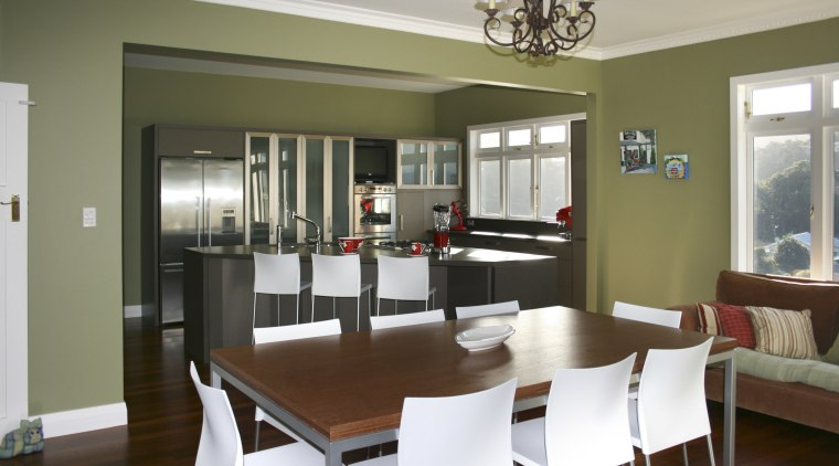 View of a kitchen which was remodelled by dining room, interior design, real estate, room, table, window, brown