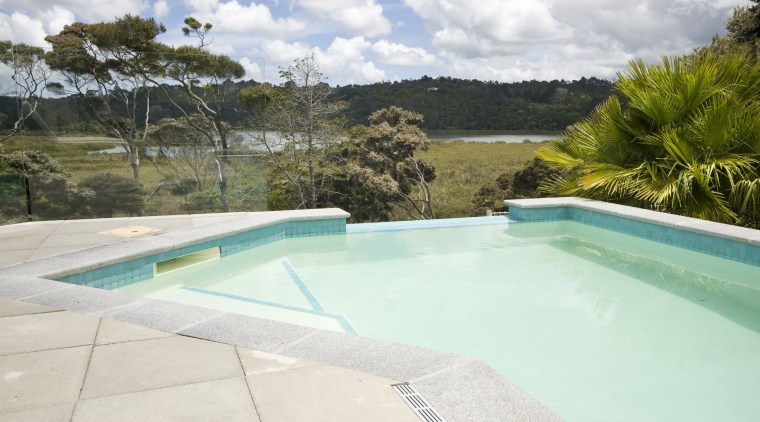 Image of this new fiberglass pool built by estate, house, leisure, property, real estate, resort, swimming pool, vacation, water, white