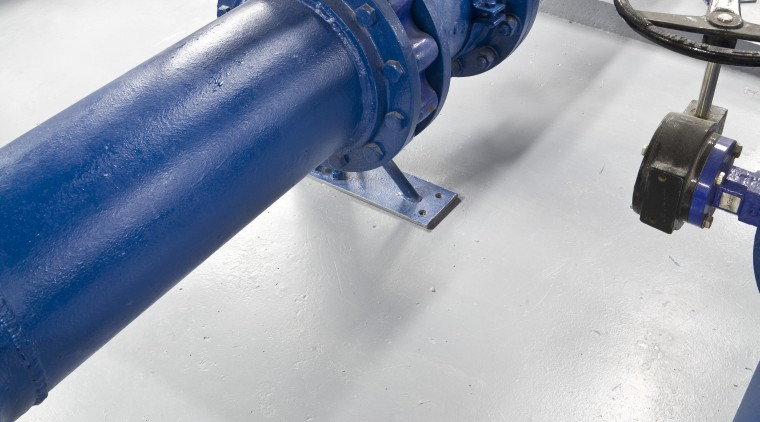 Image of drains supplied by Allproof Industries. Allproof pipe, product, water, blue, white