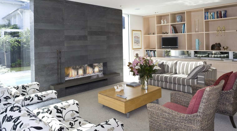 View of lounge with sofas and seating, fireplace, hearth, home, interior design, living room, white