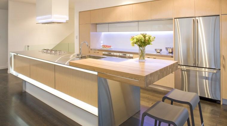 View of a kitchen designed by Mal Corbay cabinetry, countertop, cuisine classique, interior design, kitchen, real estate, room, white, orange