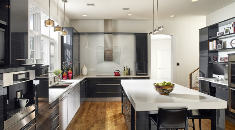View of a kitchen which features kitchen cabinetry cabinetry, countertop, cuisine classique, interior design, kitchen, real estate, room, white