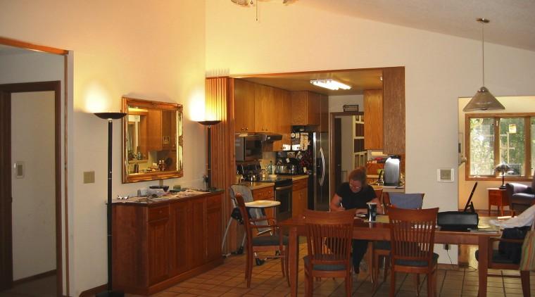 Kitchen prior to renovation. dining room, interior design, living room, real estate, room, brown, orange