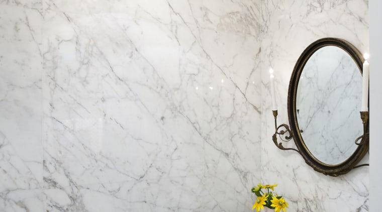 Interior view of this unique bathroom features a bathroom, ceiling, ceramic, floor, flooring, home, interior design, plaster, plumbing fixture, room, sink, tap, tile, wall, white, gray