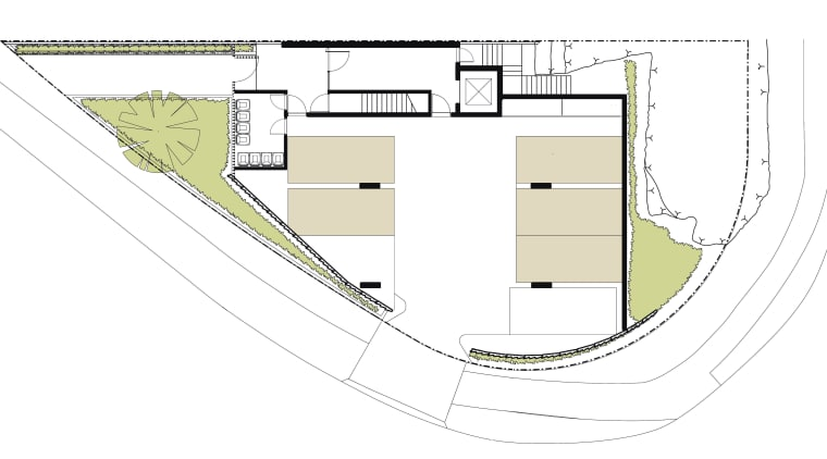 View of architectural plans for this Sydney apartment angle, area, design, diagram, line, plan, product design, structure, white
