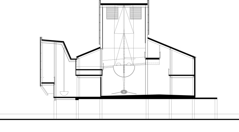 Cross Section Sketch  an Floor plans angle, architecture, area, black and white, design, diagram, drawing, font, line, line art, product, product design, structure, white