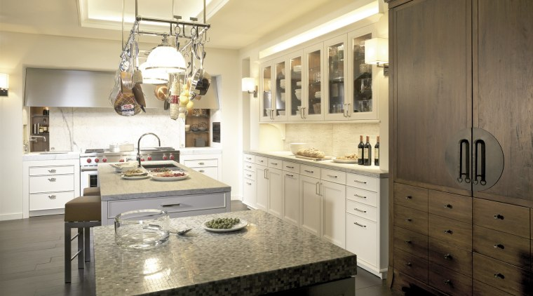View of SieMatics BeauxArts kitchen collection. cabinetry, countertop, cuisine classique, interior design, kitchen, room, brown