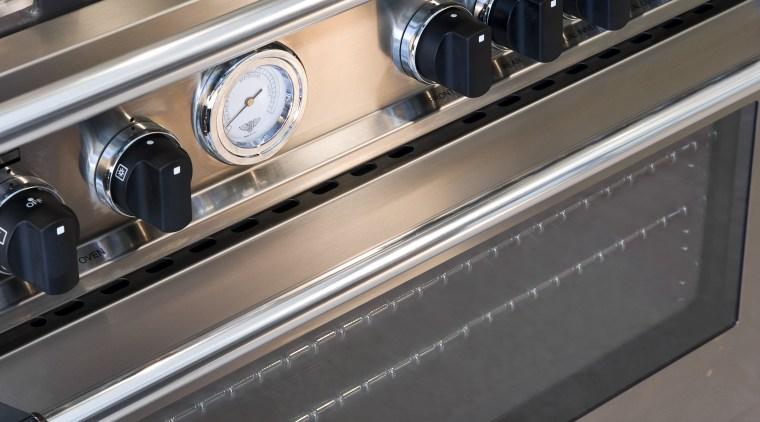 View of Bertazzoni range that exemplifies the Italian gas stove, home appliance, kitchen appliance, kitchen stove, major appliance, gray, black