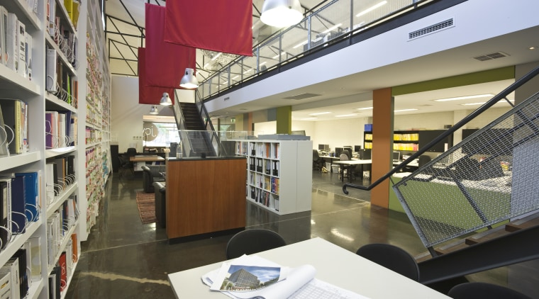 JCY Architects + Urban Designers office, Perth institution, interior design, library, public library, gray