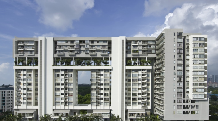 Exterior view of the apartment apartment, building, commercial building, condominium, corporate headquarters, elevation, facade, home, metropolitan area, mixed use, property, real estate, residential area, sky, tower block, urban design, gray