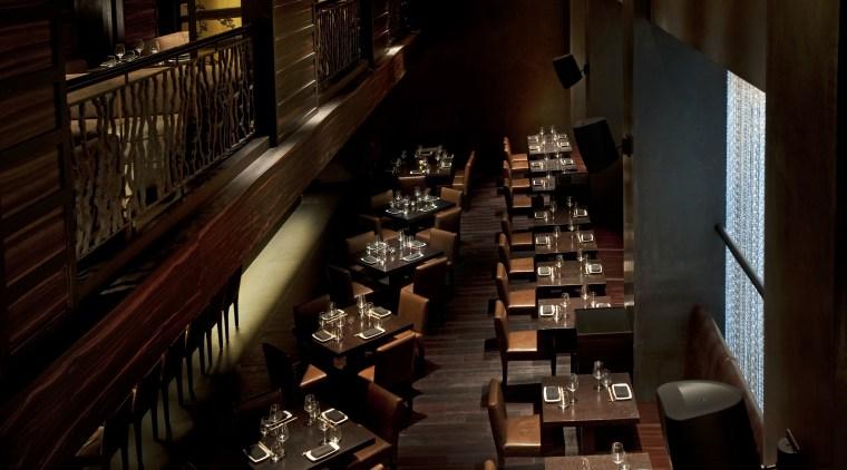 View of Okku Japanese Restaurant in the Monarch bar, darkness, musical instrument accessory, restaurant, black