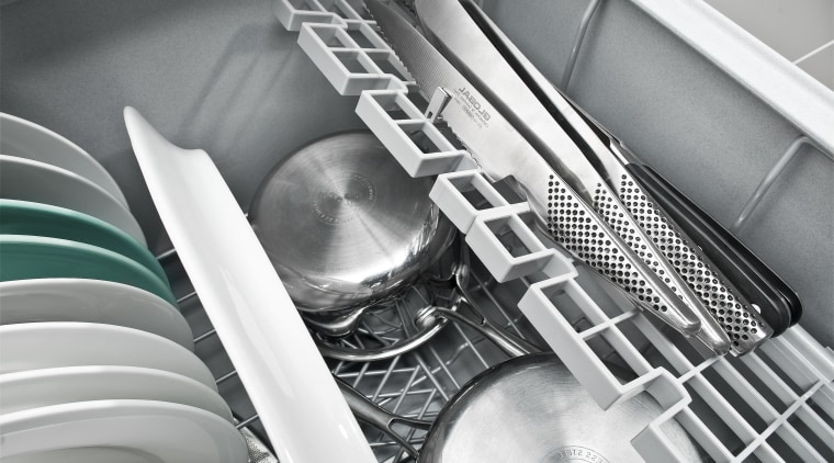 View of kitchen featuring appliances from Fisher & automotive design, black and white, monochrome, motor vehicle, product, product design, gray, white