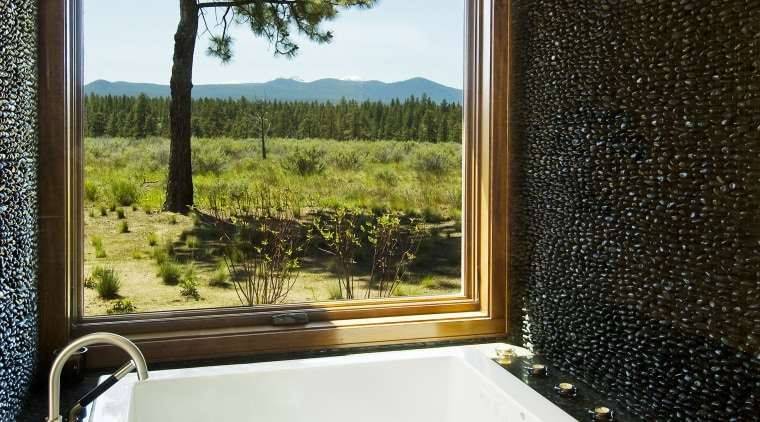 Mathews Bath 7358 bathroom, bathtub, daylighting, estate, home, house, interior design, property, real estate, room, window, brown, white