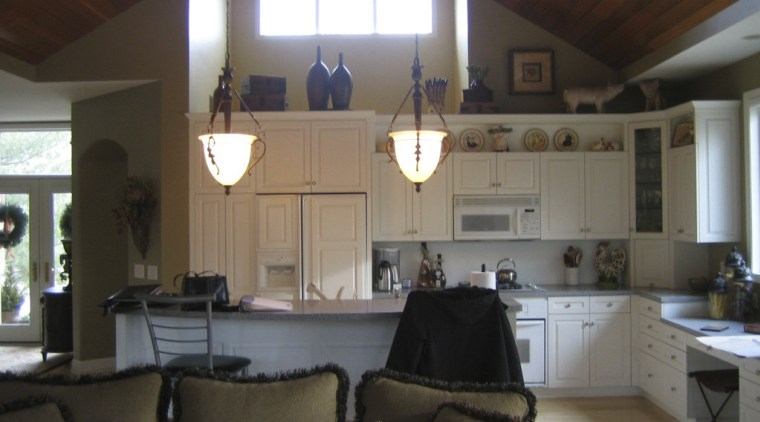 View of a remodeled breakfast room and kitchen ceiling, home, house, interior design, living room, real estate, room, window, black, brown, gray