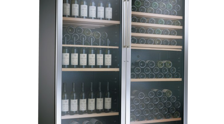 Close-up of the Hi-tech storage by Transtherm Prestige home appliance, product, refrigerator, white