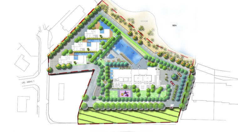 View of architectural plans for the Springtide Residences area, diagram, elevation, land lot, line, plan, product design, residential area, structure, urban design, white