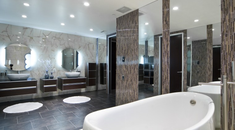 View of bathroom at the Pececnik apartment which bathroom, estate, home, interior design, real estate, room, gray