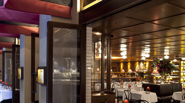 View of themed Sydney restaurant. café, interior design, restaurant, brown